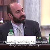 Lab Co-Director Ryan Calo gives testimony at a hearing titled Exploring Augmented Reality